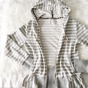 Anthropologie Gray and White Hoody